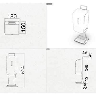 【コロナ対策】自動消毒液噴霧器卓上タイプ